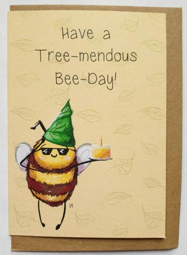 1 Tree Card - Tree-mendous Bee-day